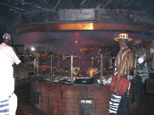Meat_roasting_at_Carnivore_restaurant_in_Nairobi