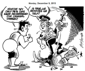 May's cartoon, The Gleaner, December 9, 2013