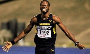 Delano Williams, running for Munro College