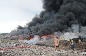 Riverton Dump on fire