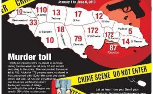 Jamaica murder map
