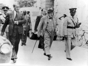 Winston Churchill visits Spanish Town in the 1940s