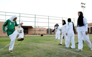 Saudi girls doing what many of us take for granted, playing sports