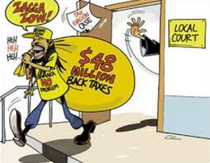 Tax evaders in Jamaica have an easy time. (Courtesy of The Gleaner.)