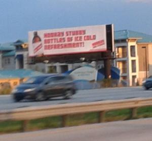 Red Stripe billboard in Orlando, FL