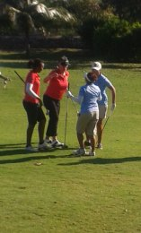 LIME Cup day 2. Cinnamon Hill: ladies match; CEEN Legends versus Buccaneers. All happy, even as rivals