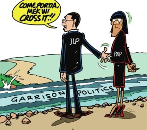 Come, cross the river with me? A little later, maybe. (Courtesy of The Jamaica Observer.)