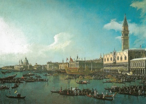 Canaletto - Venice: The Basin of San Marco on Ascension Day