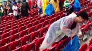Japanese fans clean up in Recife