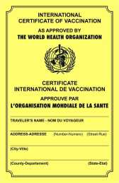 International immunization card