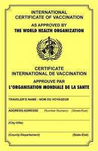 International immunization card