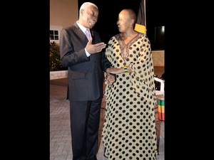 Senator Nicholson and High Commissioner Joyeni