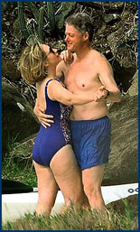 The Clintons, as close as can be. Who needs briefs?