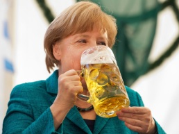 Our champion in the 1 litre glass…Angela Merkel…Whooohooo!!
