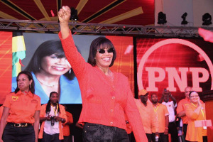 Celebration time… Prime Minister Portia Simpson Miller. (Photo: Loop Jamaica)