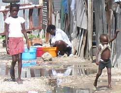 Squalid living conditions in Jamaica