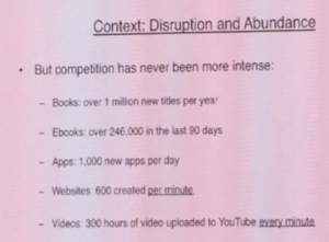 Slide produced by George Walkley, Head of Digital, Hachette, UK