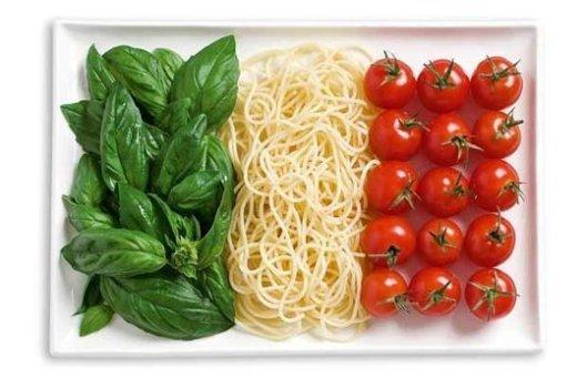 Italy food flag